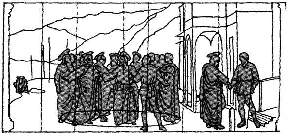 Masaccio Pagamento del tributo 1425