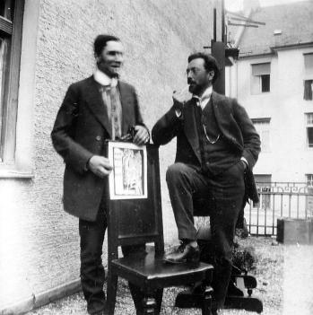 Marc con Kandinsky en Munich 1914