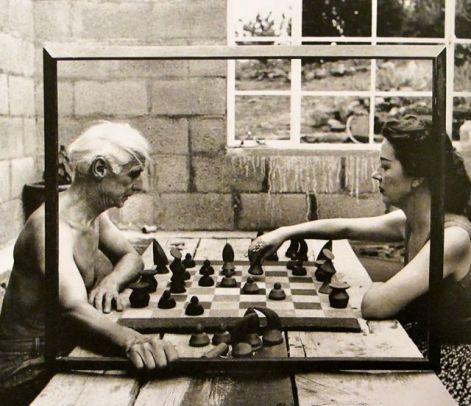 Max Ernst y su compañera Dorothea Tanning