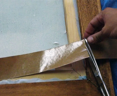 cortar cinta medida marco madera