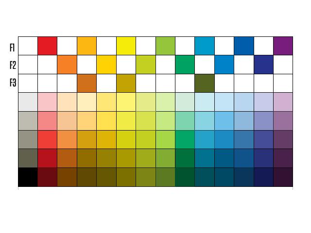 como colocar color paleta