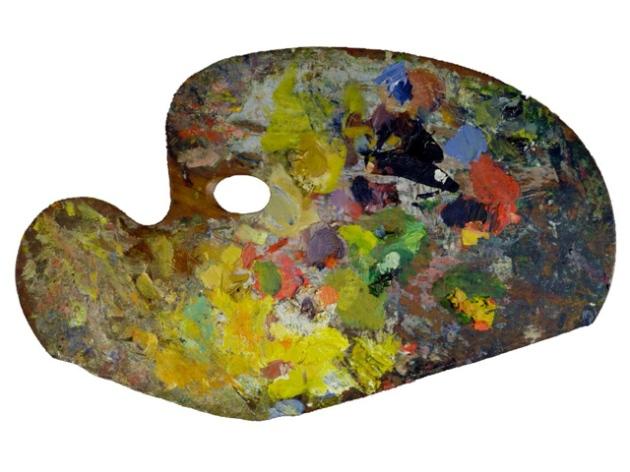 Paleta de Claude Monet
