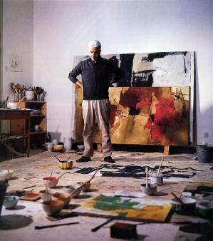 Basaldella en su estudio en 1963