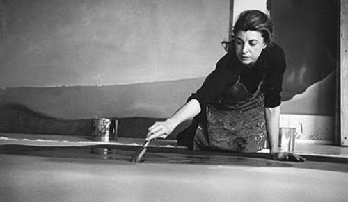 Helen Frankenthaler en su estudio